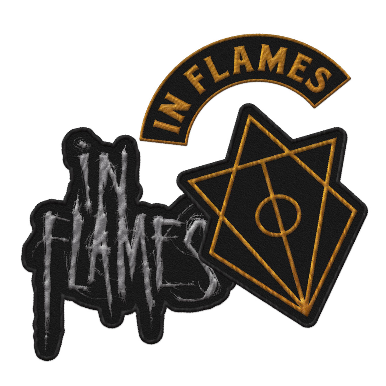 Logos von In Flames - Aufnäher 3er Set jetzt im In Flames Shop