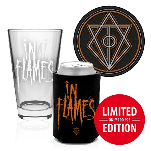 Glas, Koozie, Patch von In Flames - Accessories Bundle jetzt im In Flames Shop