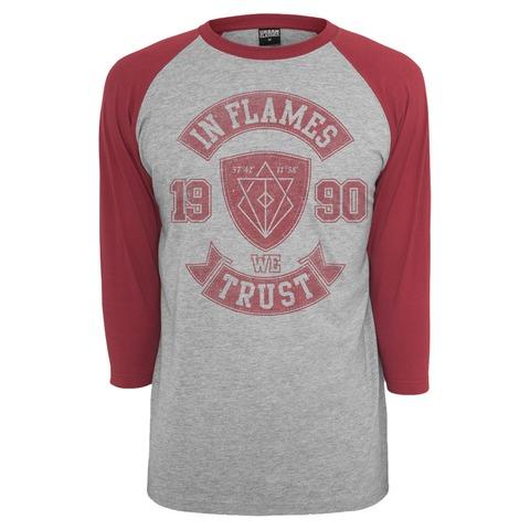√We Trust College von In Flames - Raglan Longsleeve 3/4 Arm jetzt im In Flames Shop