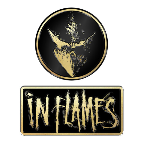 Logo and Mask von In Flames - 2er Pin Set jetzt im In Flames Shop