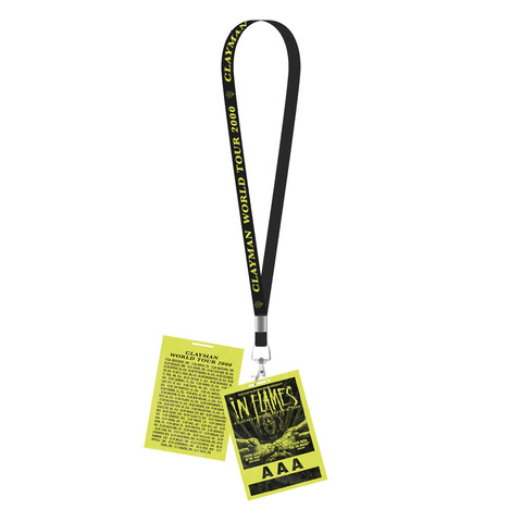 √Clayman World Tour 2000 von In Flames - Lanyard with card jetzt im In Flames Shop