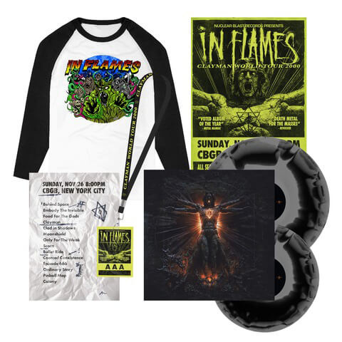 √Clayman 20th Anniversary Bundle - Ltd. 2LP, Poster, Setlist, AAA Pass, Longsleeve von In Flames -  jetzt im In Flames Shop